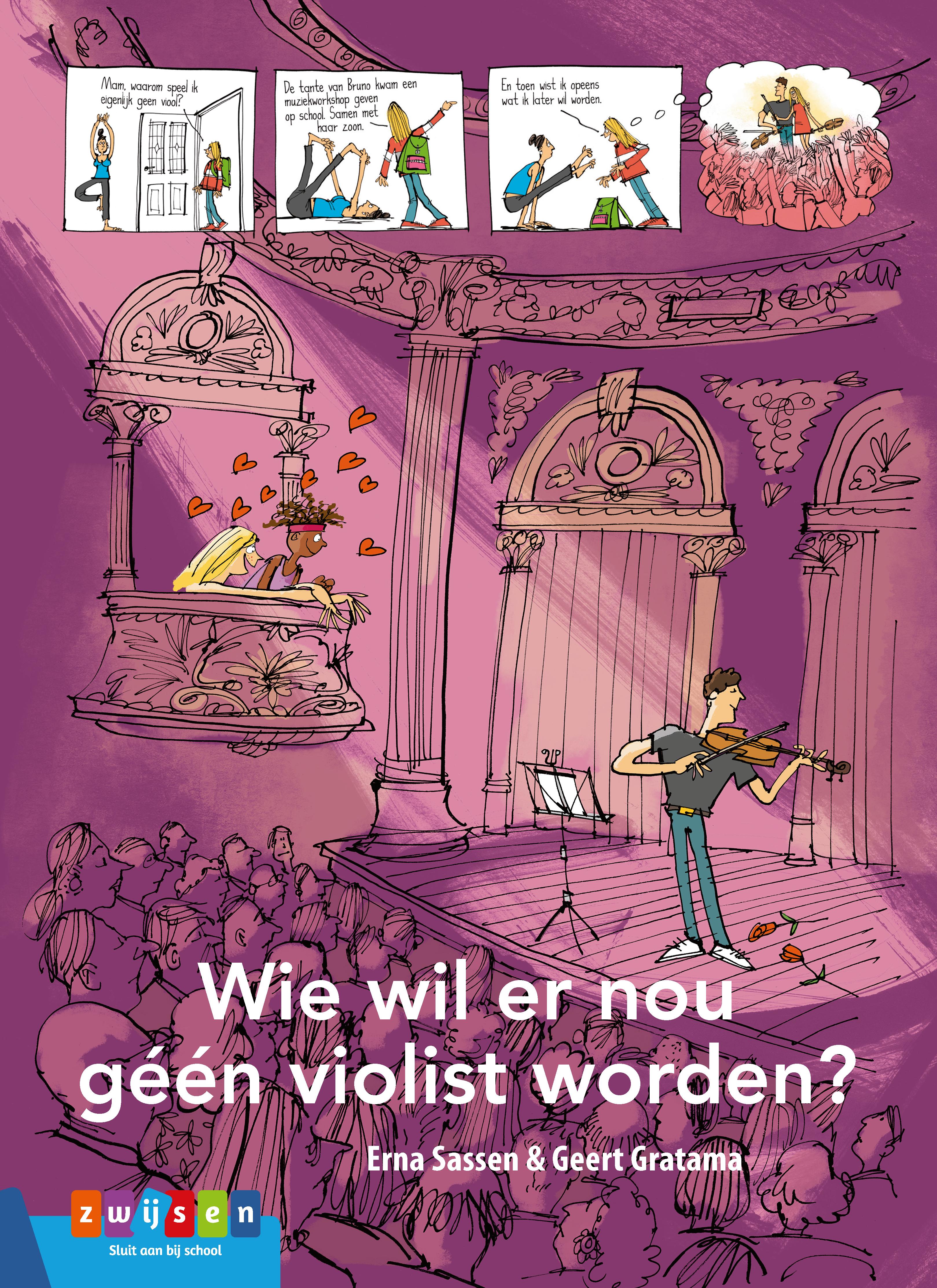 cover van het AVI-leesboek 'Wie wil er nou geen violist worden?'