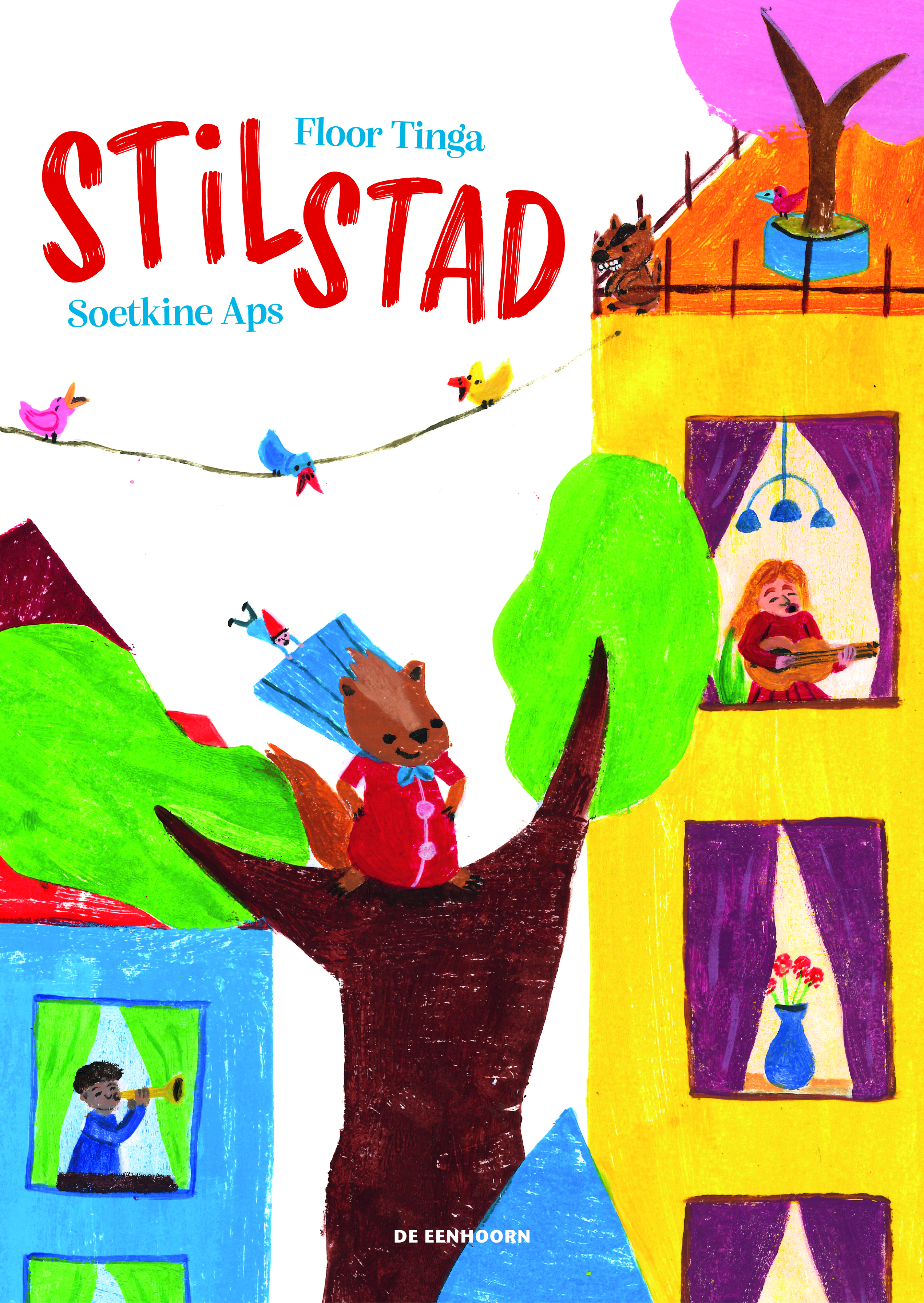 coverafbeelding van 'Stil Stad'. Illustratie Soutkine Aps
