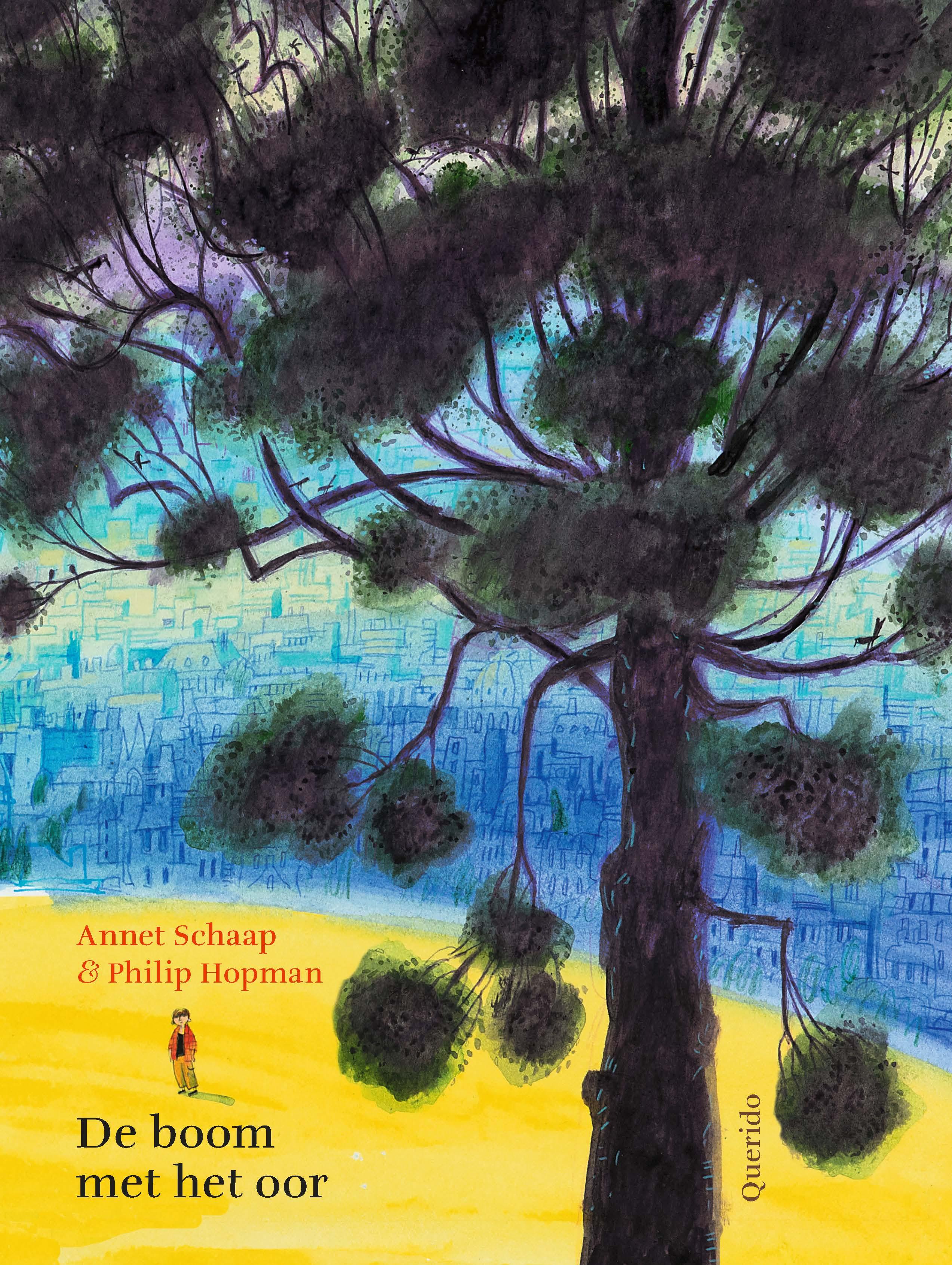 cover van De boom met het oor, prentenboek van Annet Schaap en Philip Hopman