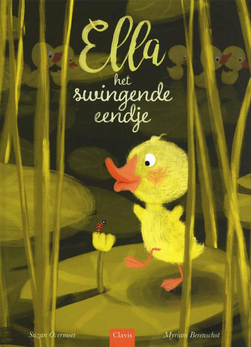 cover van Ella, het swingende eendje, prentenboek van Suzan Overmeer