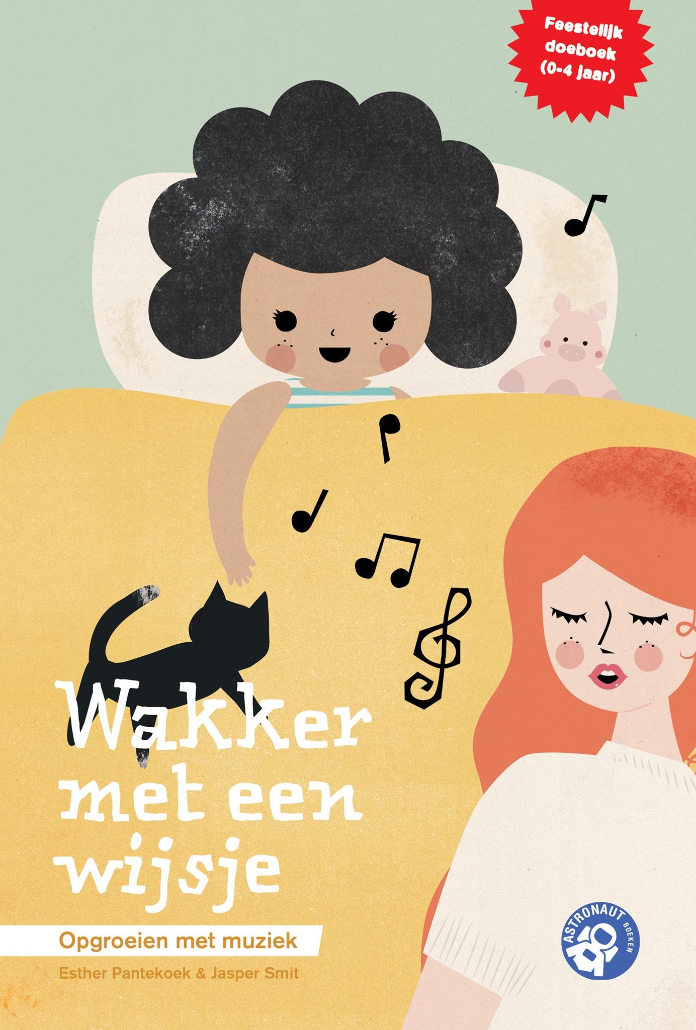 cover van Wakker met een wijsje, lied en spelletjesboek van Esther Pantekoek en Jasper Smit