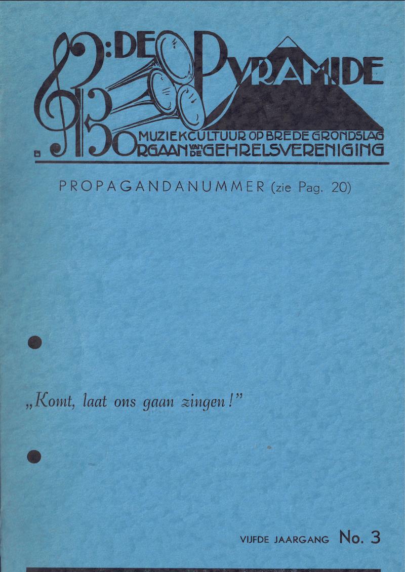 1951 januari De Pyramide omslag vijfde jaargang no. 3
