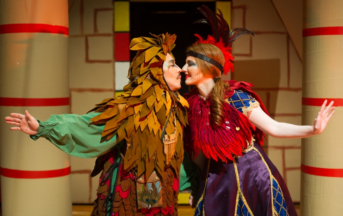 15031-Daniel Molina and Laura Shelton as Papageno and Papagena in Magic Flute Production-0413 Magic Flute production at Texas A&M University–Commerce