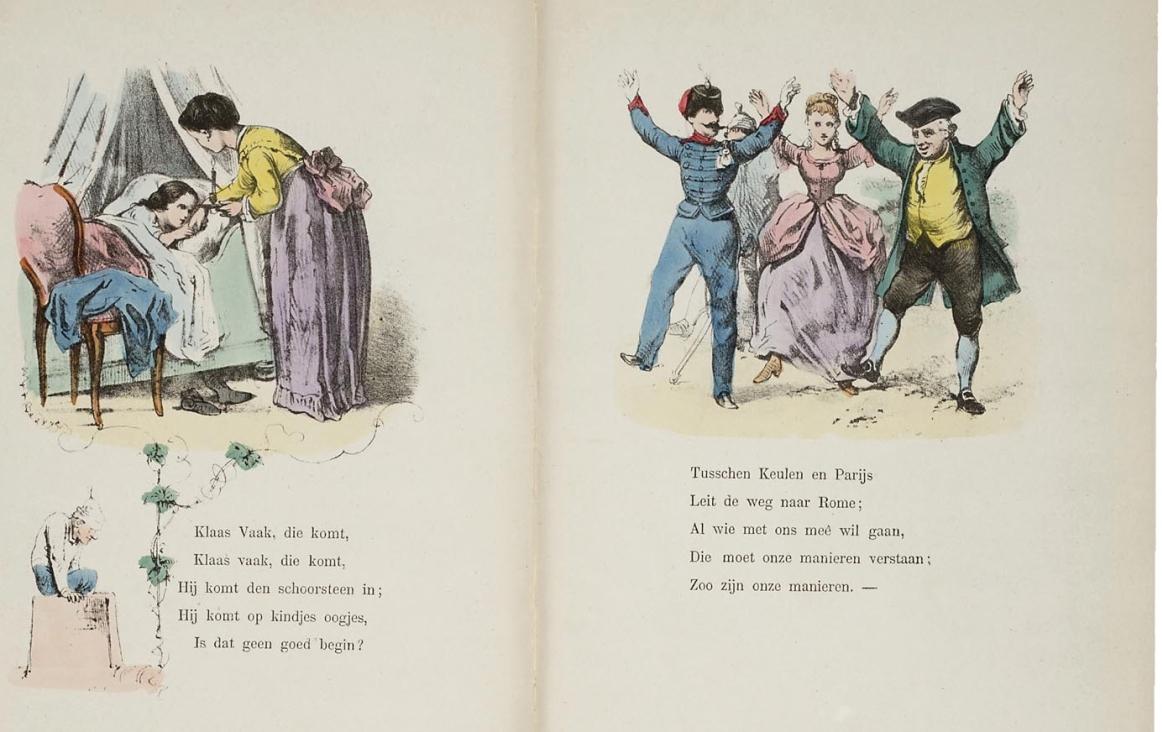 illustratie uit 'Knie-en-bakerdeuntjes uit de oude doos' (bron: Wikipedia)