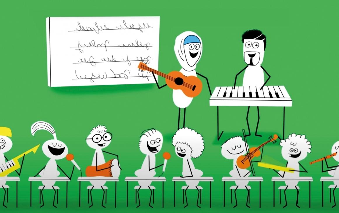 Muziekopleidersakkoord in een 'explanimation' uitgelegd
