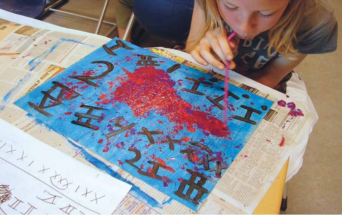 Foto uit de folder 'Muziek raken' van Harco Rutgers en Marloes Bloemenkamp