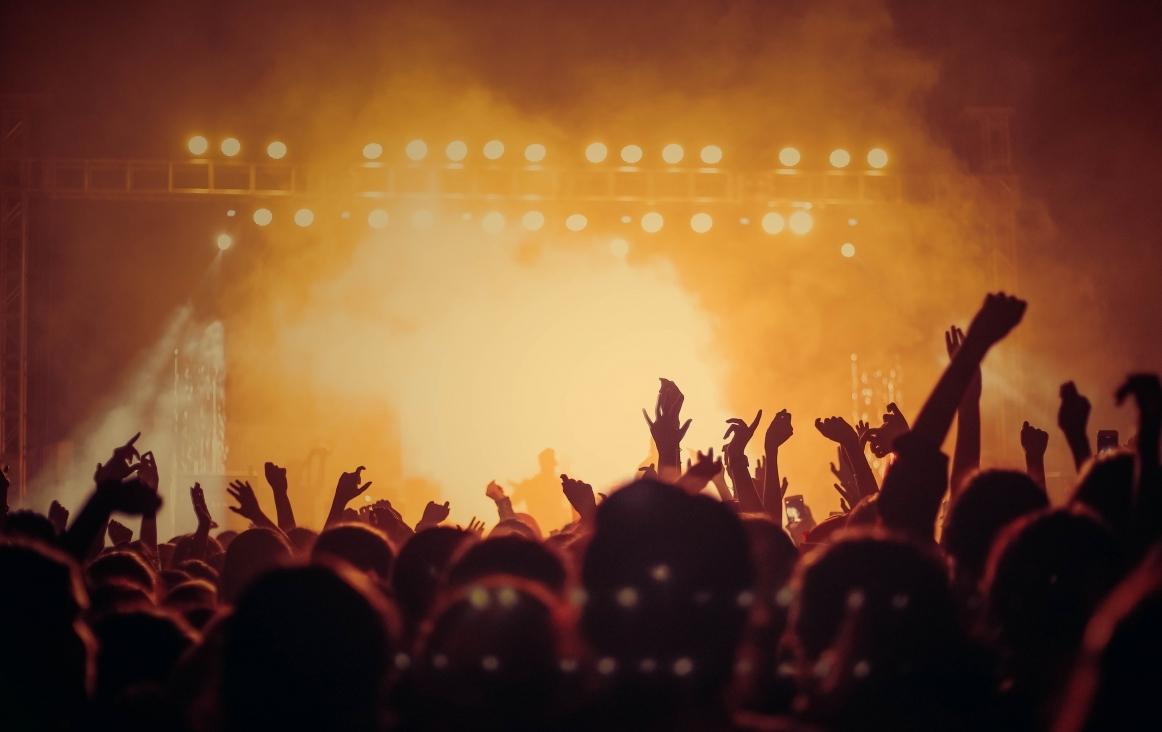 Publiek bij een concert