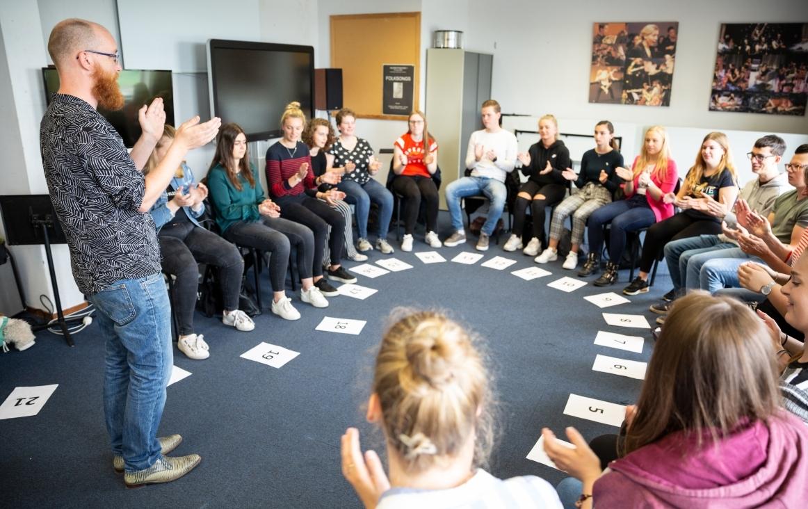 Studenten worden opgeleid tot muziekleraar. Foto Klaas Driebergen