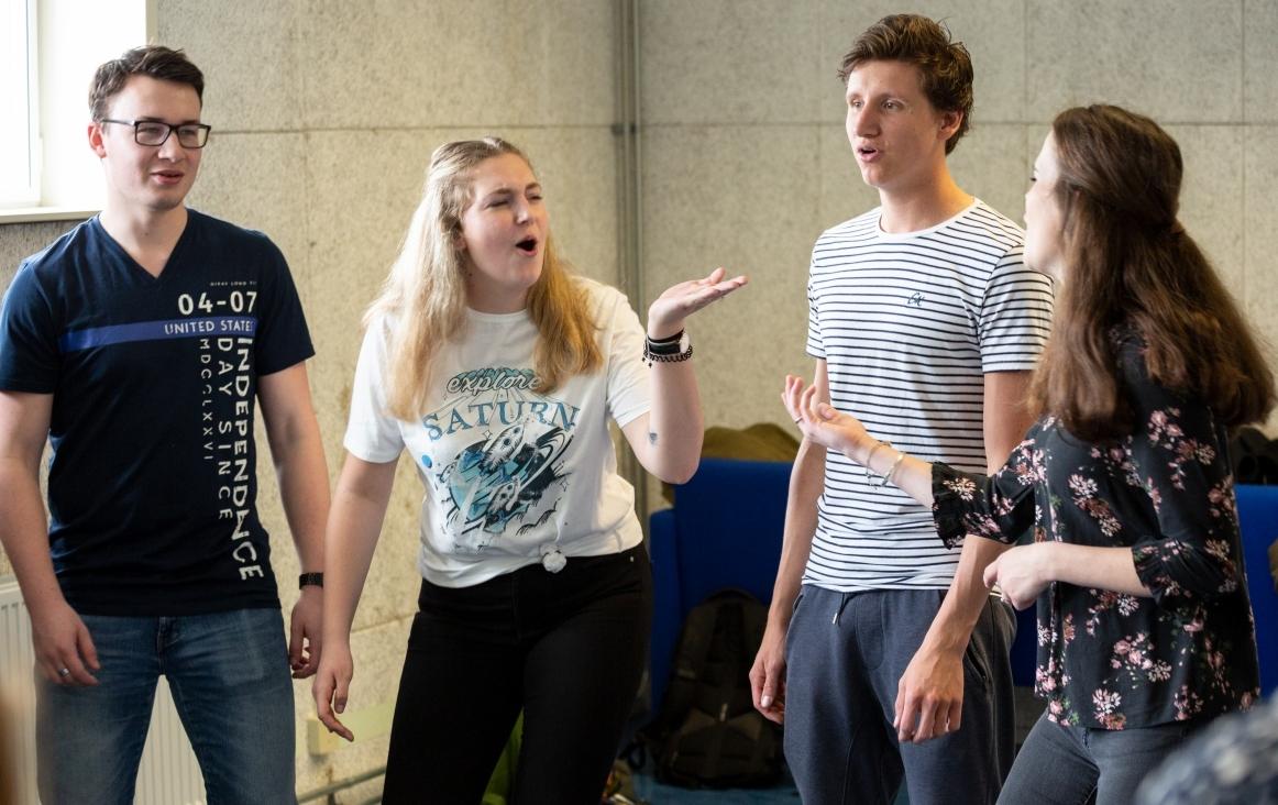 Studenten Docent Muziek van ArtEz Zwolle aan het zingen. Foto Klaas Driebergen copyright Gehrels Muziekeducatie 2019