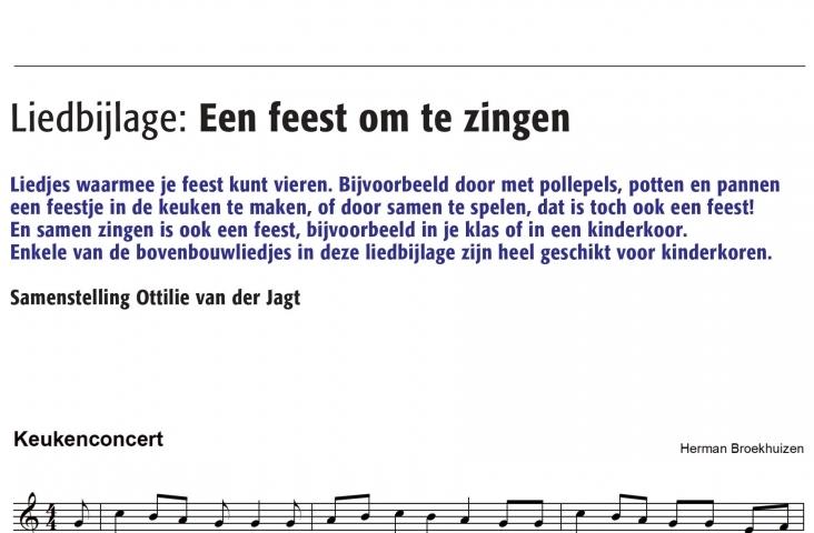 Liedbijlage (afbeelding van fragment van eerste pagina) uit De Pyramide afl. 74-01, februari 2020
