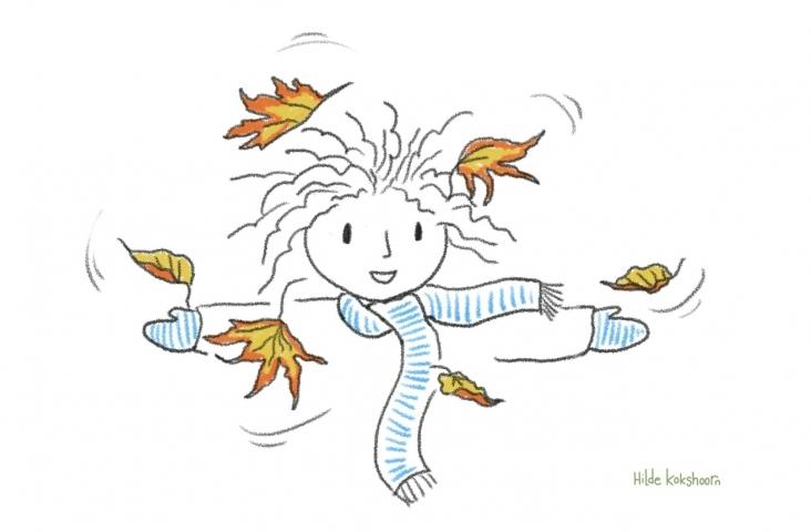 Herfst. Illustratie Hilde Kokshoorn