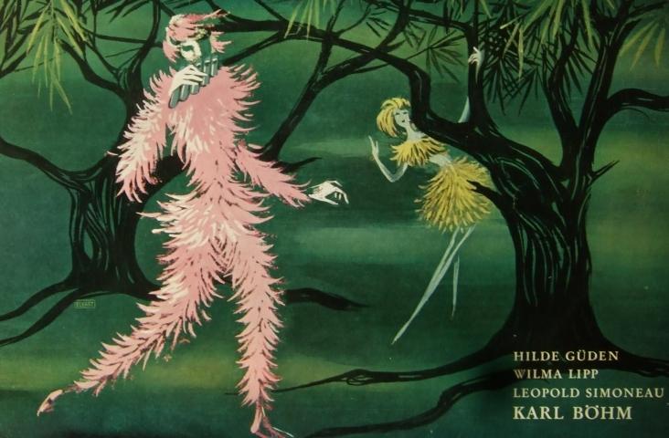 fragment van de coverafbeelding van de cd 'Die Zauberflöte', in de reeks Oper der Welt, Decca, LW 50522