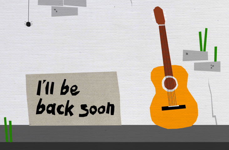 Illustratie I'll be back. Bron: Black House Blues, Musication
