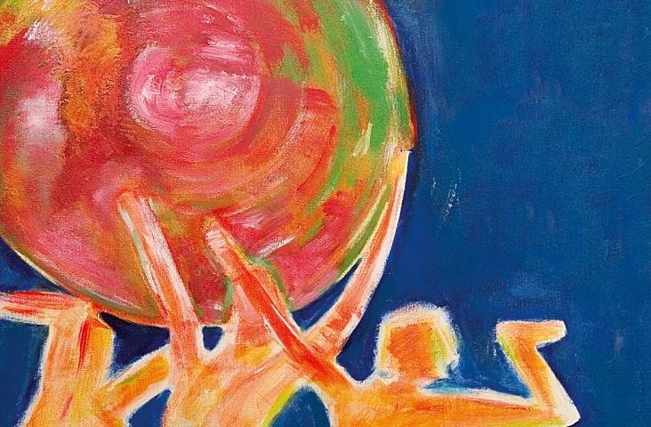 Omslag kunstwerk Monique S. Michel - liedbundel Klankkleur ©2005 Gehrels Muziekeducatie