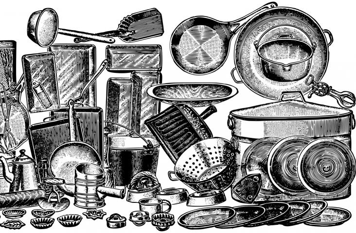 Potten en pannen. Illustratie Gordon Johnson Pixabay