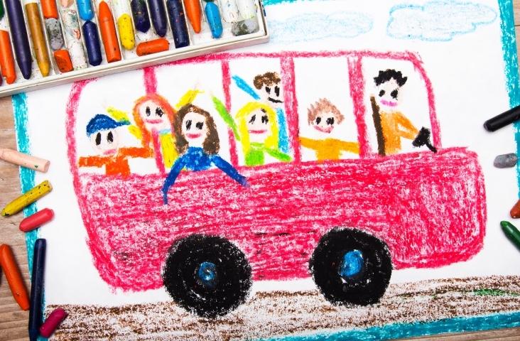 Autobus met waskrijt. beeld Shutterstock
