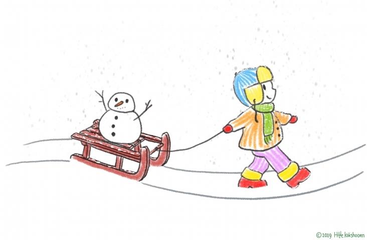 Illustratie 'Sneeuw'. © Hilde Kokshoorn 2019