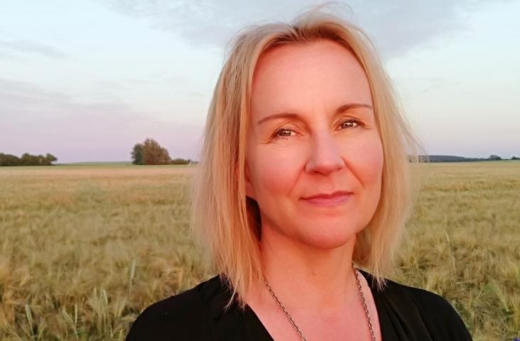 Tanja Lagerström. Tanja geeft muziekles in Zweden.